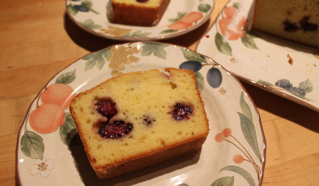 Lemon Blackberry Pound Cake