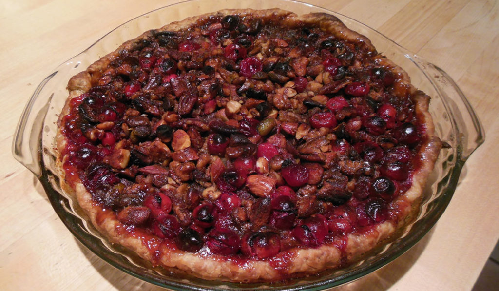 Four Nut Cranberry Pie