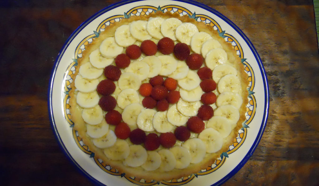 Raspberry and Banana Tart