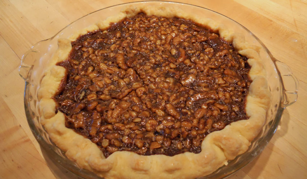 Chocolate Brandy Walnut Pie