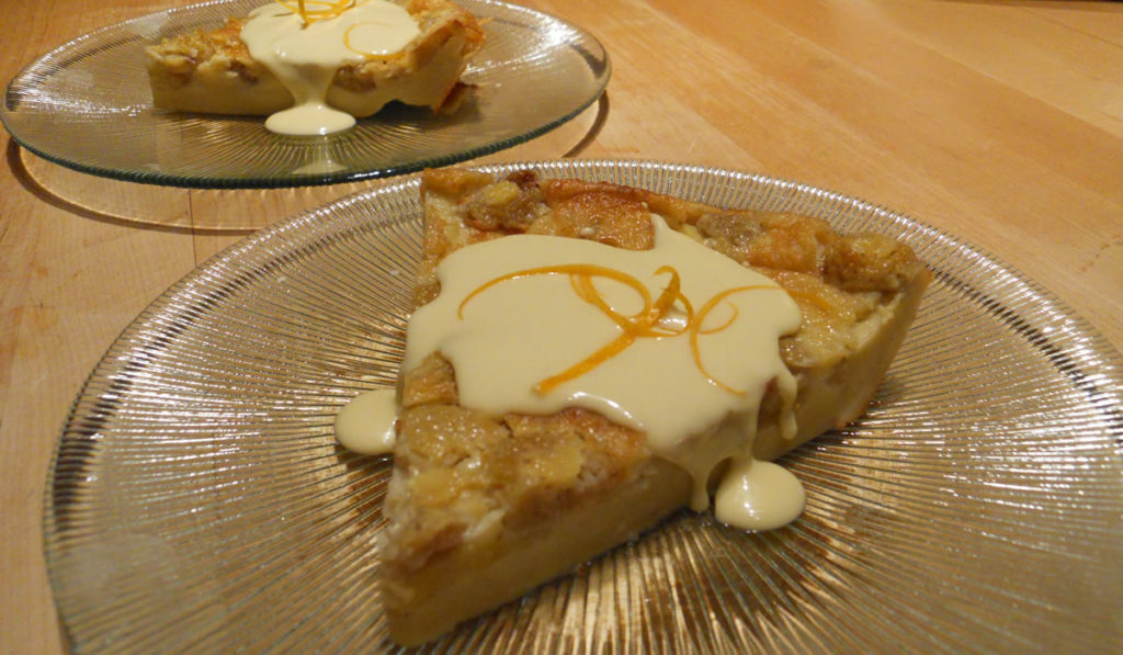 Banana Golden Raspberry Coconut Clafoutis