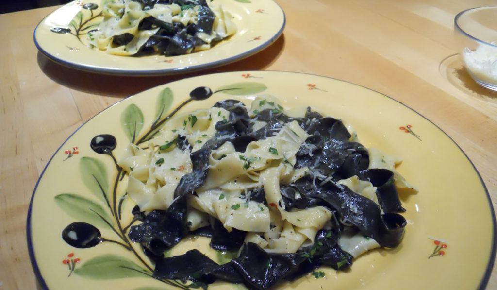 Squid Ink Pasta with Truffle Butter