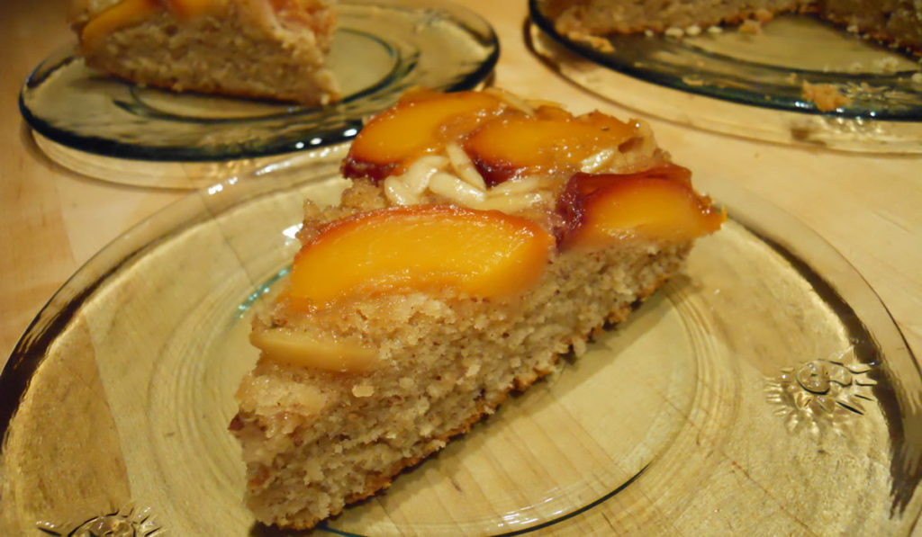Peach and Almond Upside-Down Cake