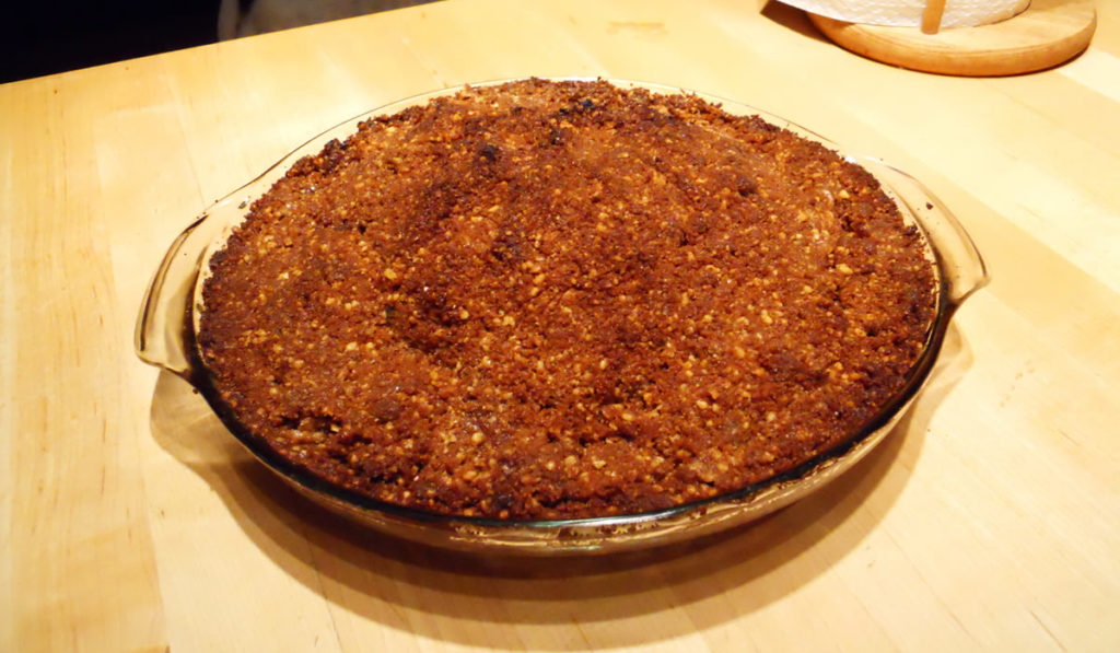 Pear Pie with Ginger Cookie Crust