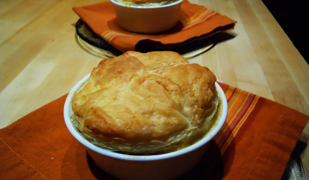 Shrimp and Andouille Pot Pie