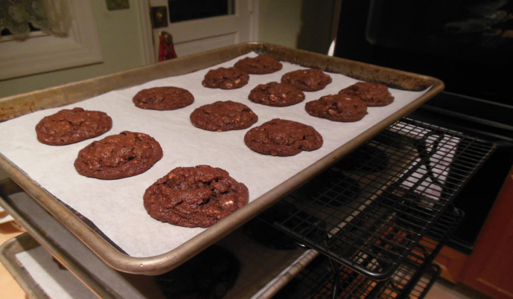 Chocolate Chocolate Peppermint Cookies