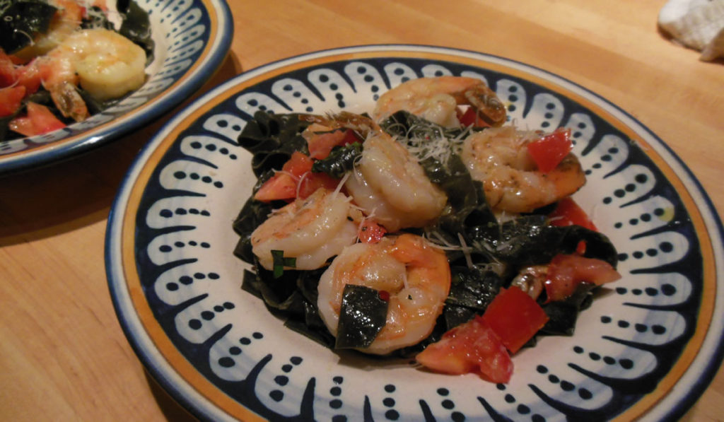 Squid Ink and Shrimp